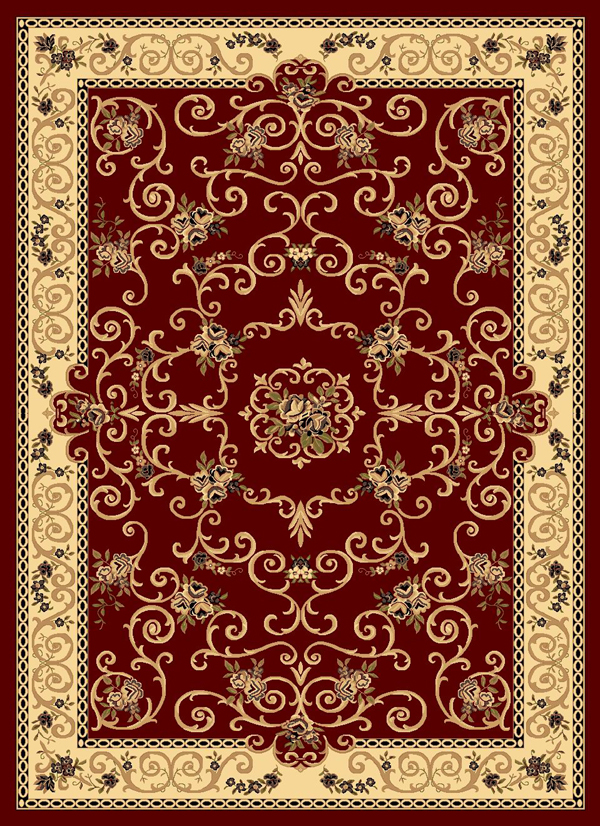 Rugs America New Vision 207 Souvanerie Red