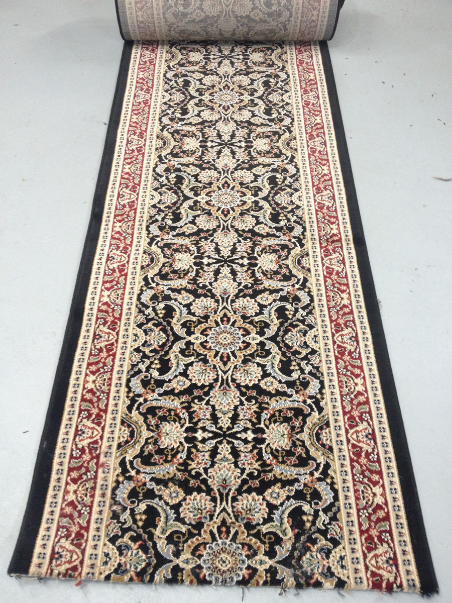 Jamestown Black - 26 Inch Wide Finished Runner - Price is Per Foot