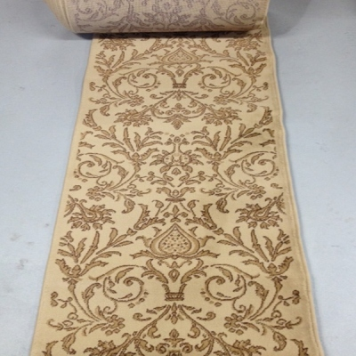 Royal Damask Gold - 26 Inch Wide Finished Runner - Price is Per Foot