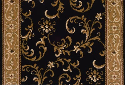 Earnest Dominique 21933 Black/Almond Carpet Stair Runner