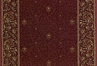 Royal Sovereign George V 2230 Claret Carpet Stair Runner