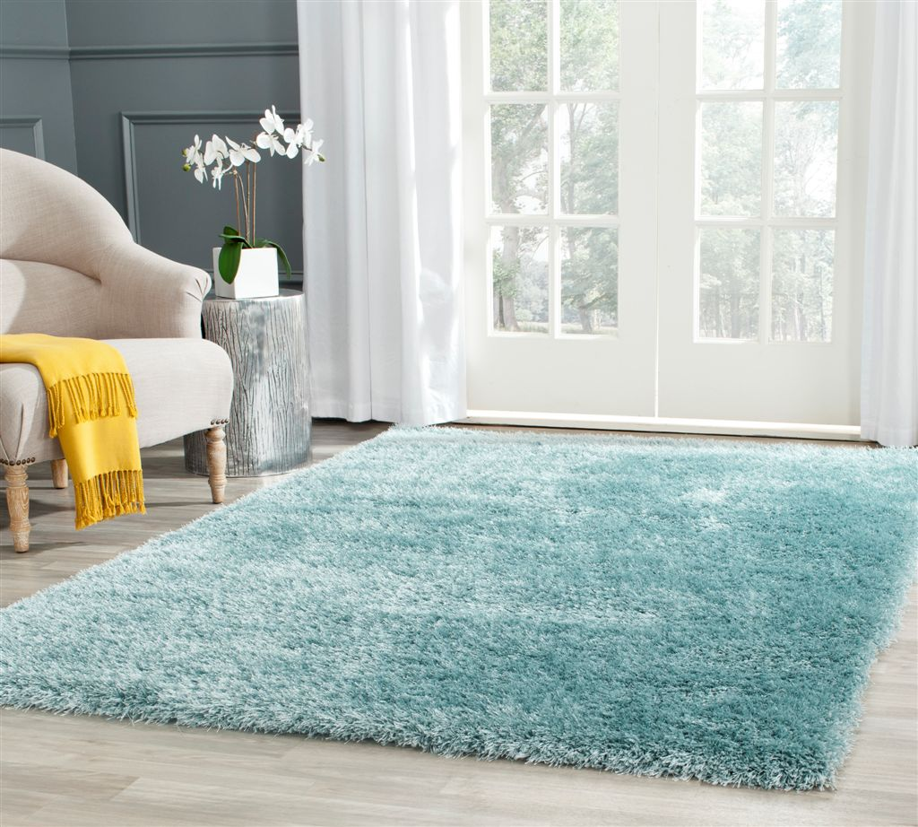 Light Blue Shag Rug Rugs Ideas
