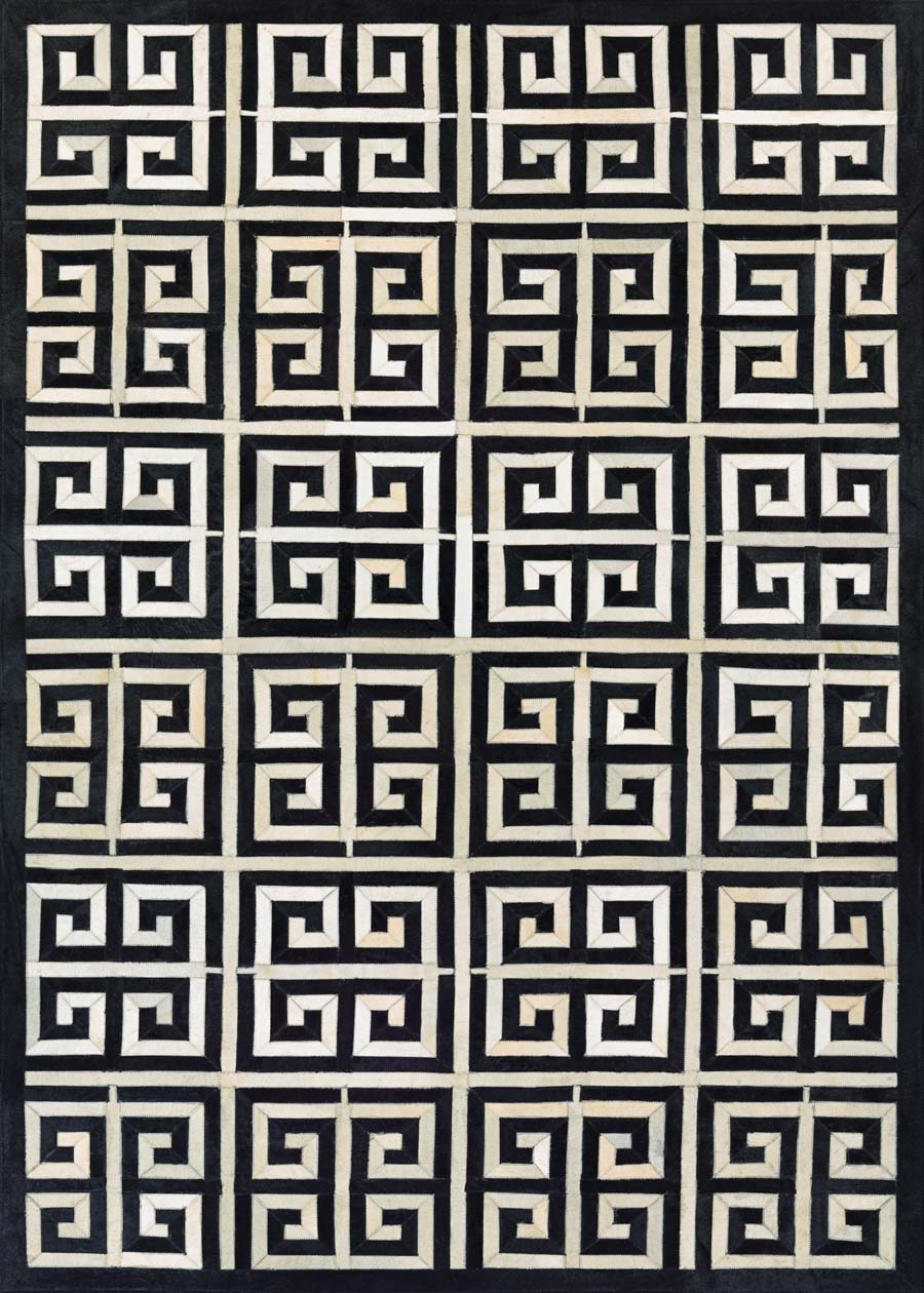 Couristan Chalet Meander 3259/0243 Black Ivory Rug
