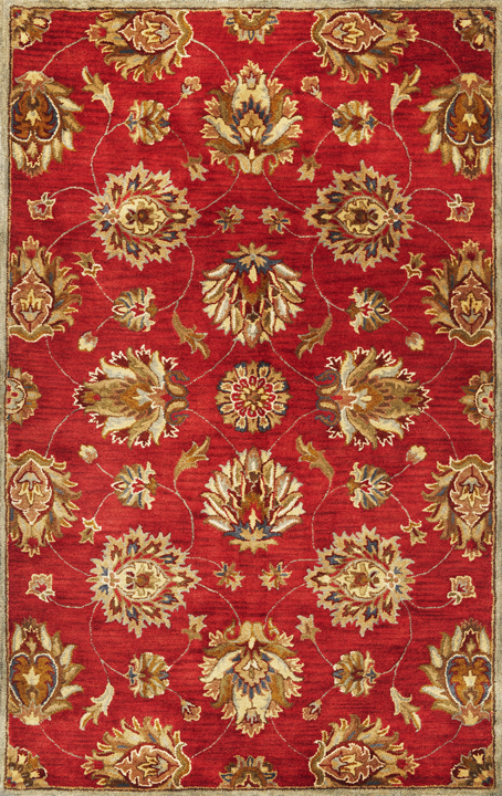 Syriana Allover Kashan 6003 Red Rug by Kas