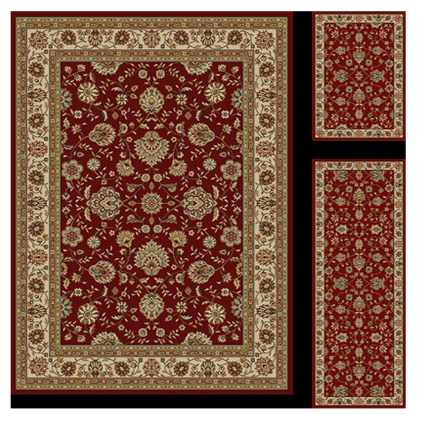 Elegance Rug Traditional Red Rug by Tayse