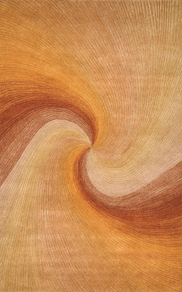 Dunes 9102/27 Waves Sunset Rug by Trans-Ocean
