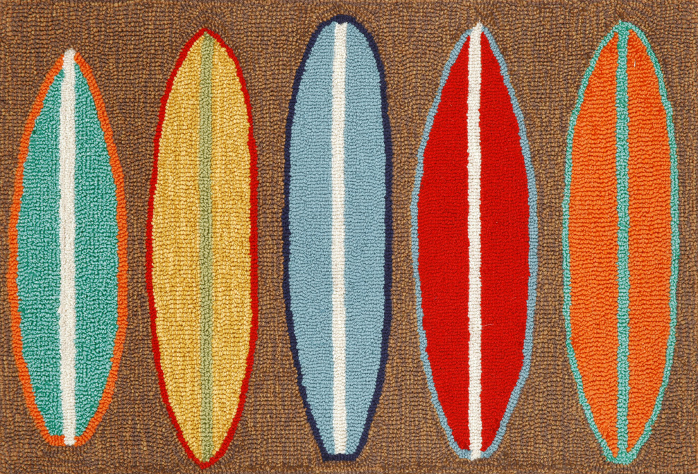 Trans-Ocean Frontporch 1406/19 Surfboards Brown Rug