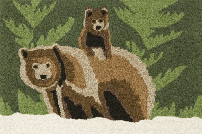 Trans-Ocean Frontporch 1463/16 Bear Family Forest Area Rug