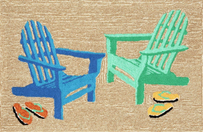 Trans-Ocean Frontporch 1466/04 Adirondack Seaside Area Rug