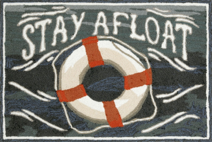 Trans-Ocean Frontporch 1468/03 Stay Afloat Water Area Rug