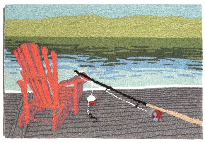 Trans-Ocean Frontporch 1489/03 Lakeside Water Area Rug
