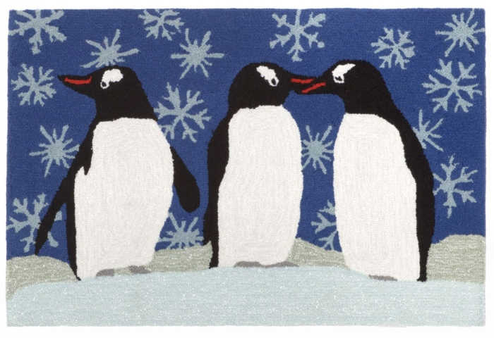 Trans-Ocean Frontporch 1494/11 Penguins Ice Area Rug