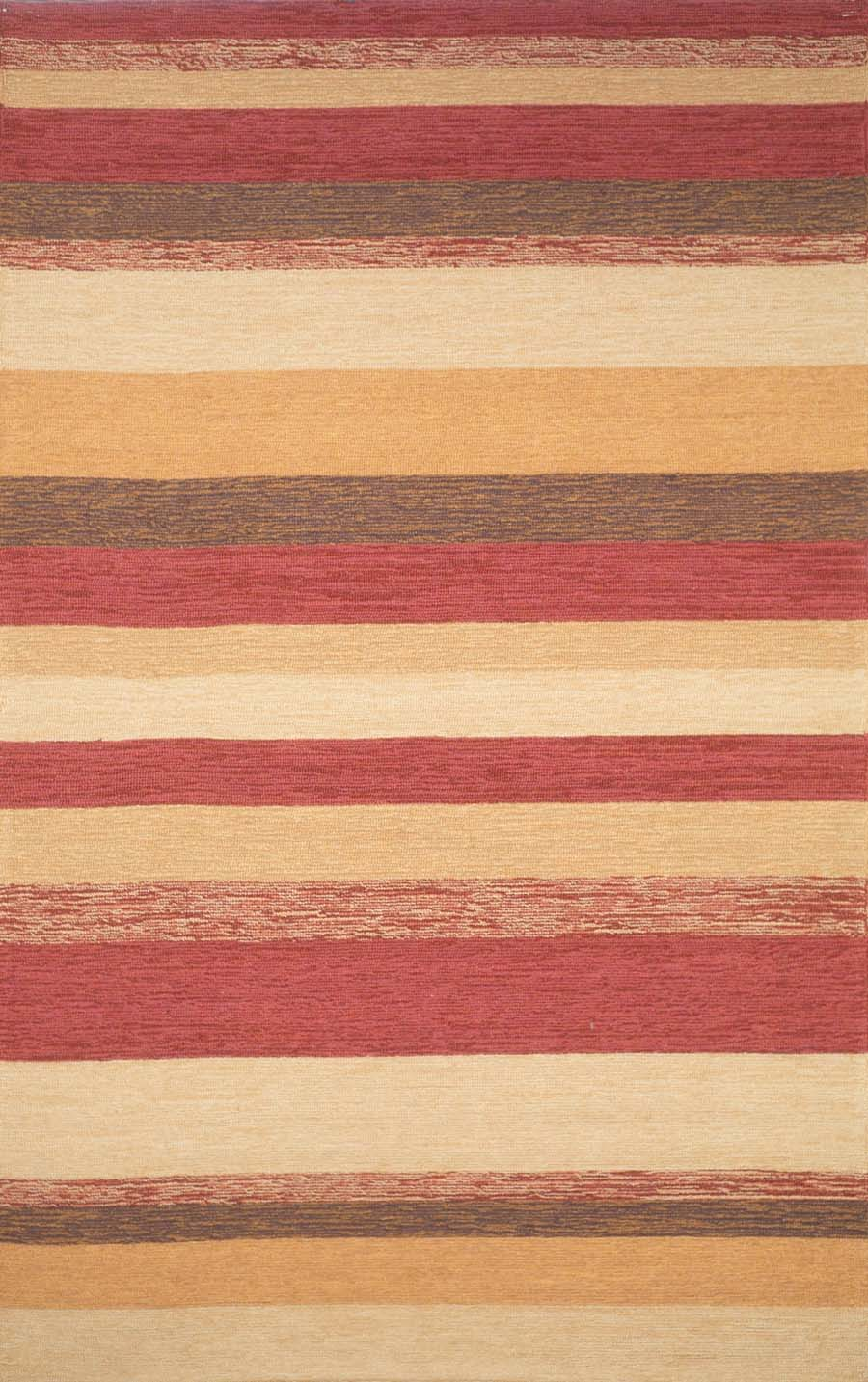 Ravella Stripe 1900/24 Red Rug by Trans-Ocean