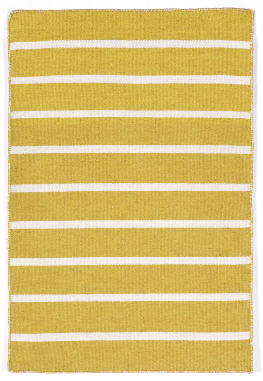 Trans-Ocean Sorrento 6305/09 Pinstripe Yellow Area Rug
