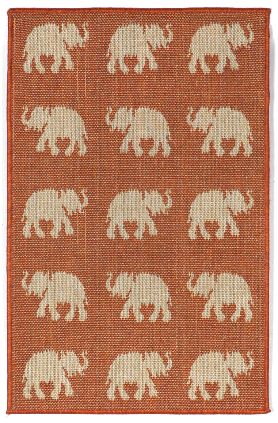 Trans-Ocean Terrace 1767/74 Elephants Terra Area Rug