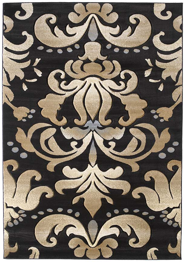 U.W. Contours Lotus Smoke Blue 510 24066 Rug