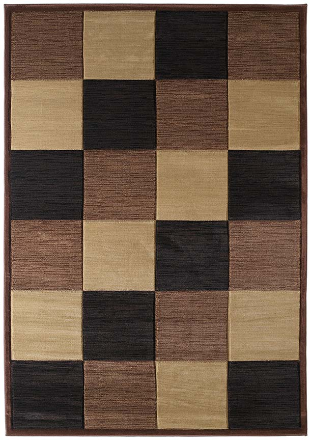 U.W. Contours Painted Diamond Toffee 510 22759 Rug
