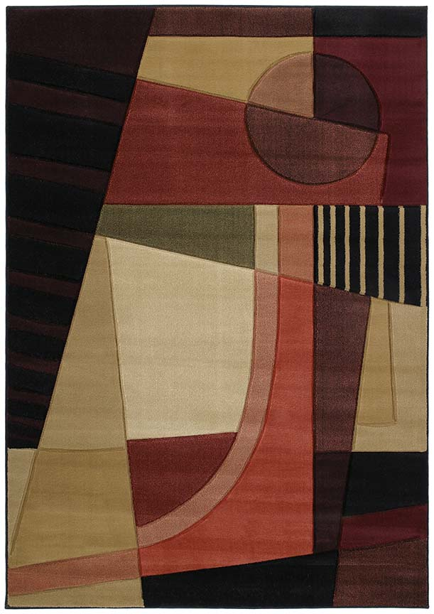 U.W. Contours Urban Angles Green 510 20745 Rug