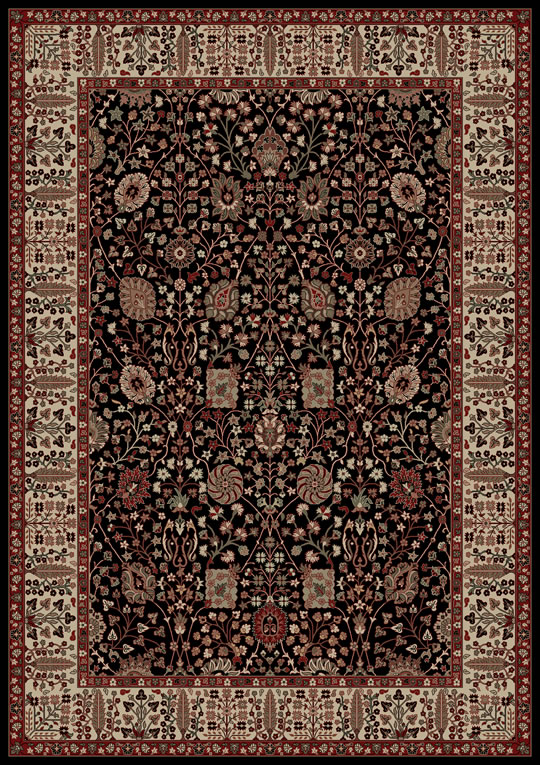 World WO09 Black Rug