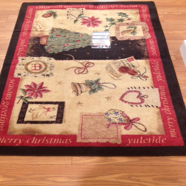 Clearance Section Yule Cheer Christmas Rug 99