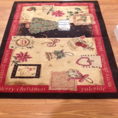 <font color = red>Clearance Section</font>: Yule Cheer Christmas Rug- $99