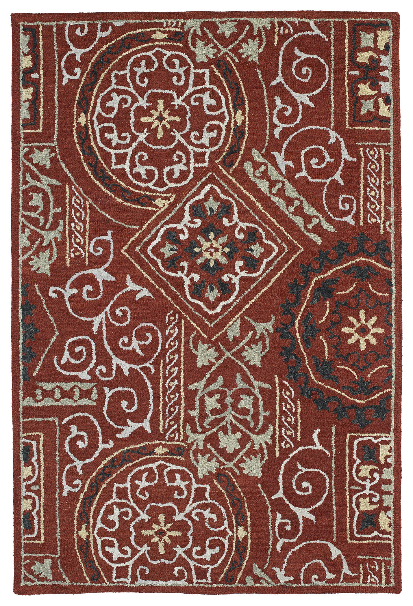 Kaleen Brooklyn Xander 5302 25 Red Rug