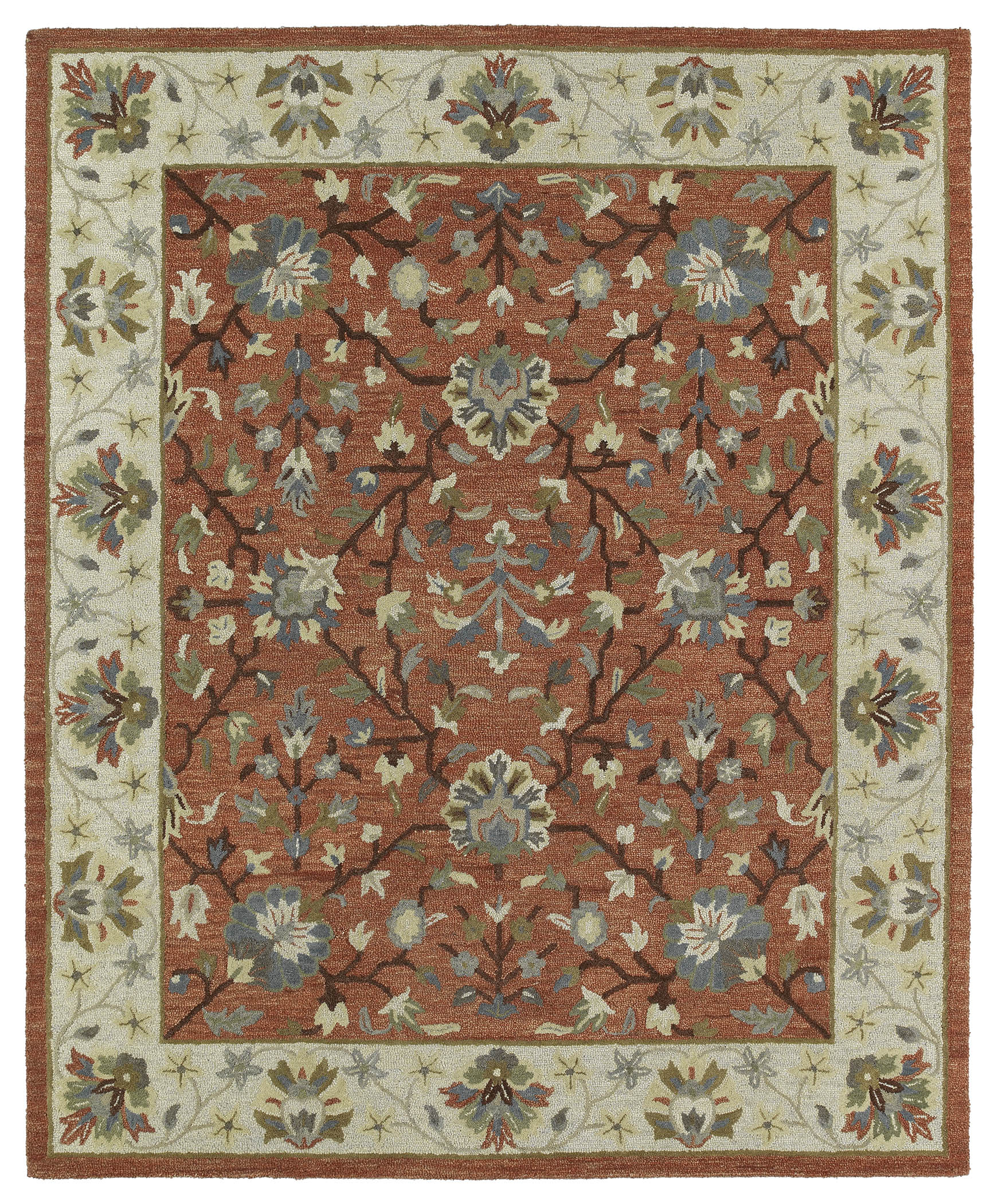 Kaleen Brooklyn Keaton 5305 06 Brick Rug