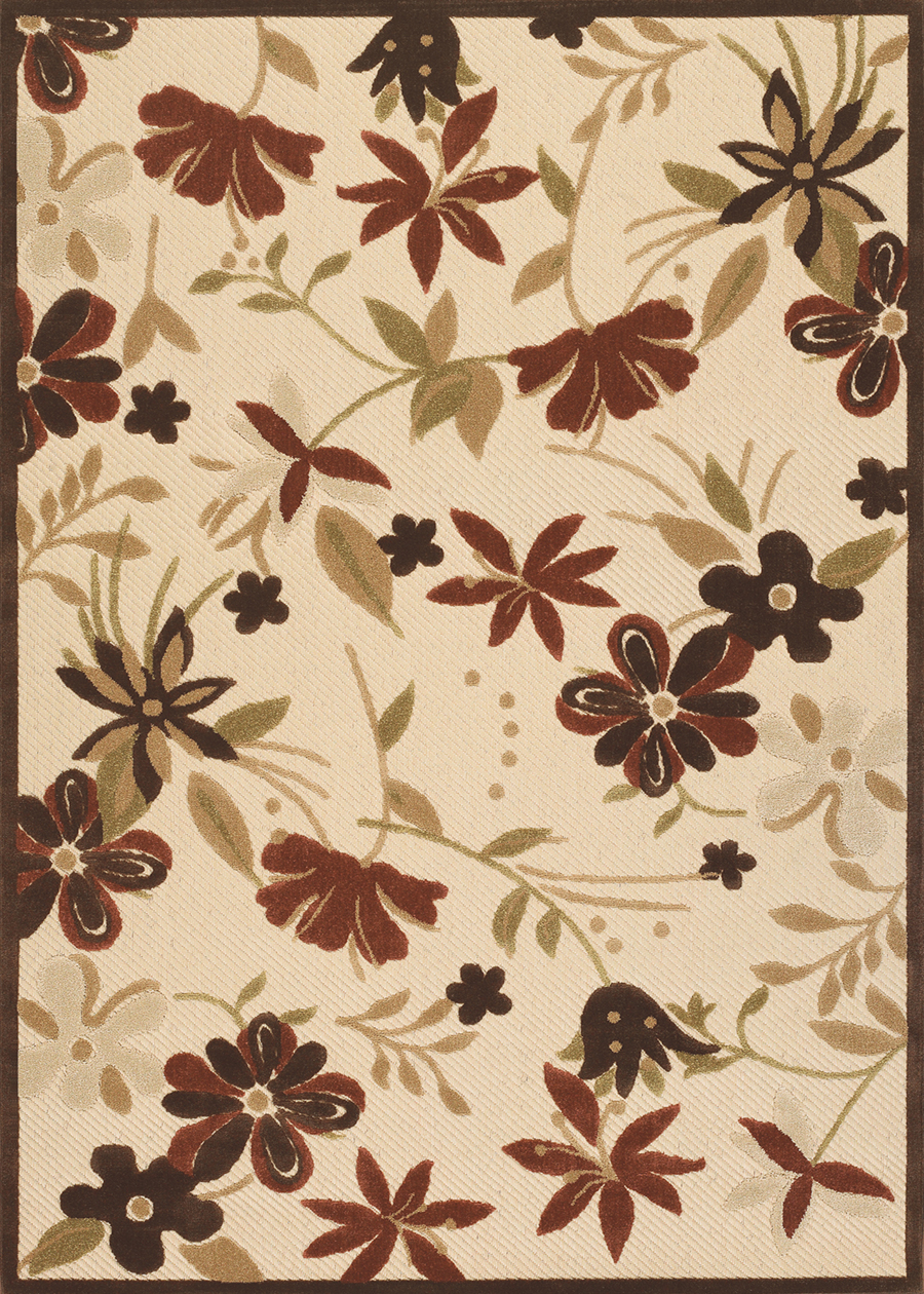 Urbane Collection by Couristan: Botanical Gardens Sand TerraCotta 5712/1012 Urbane Outdoor Rug by Couristan
