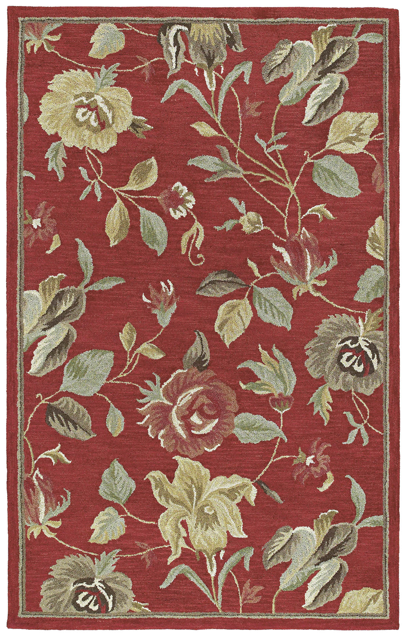 Khazana 6557 Savannah Red 25 Rug by Kaleen