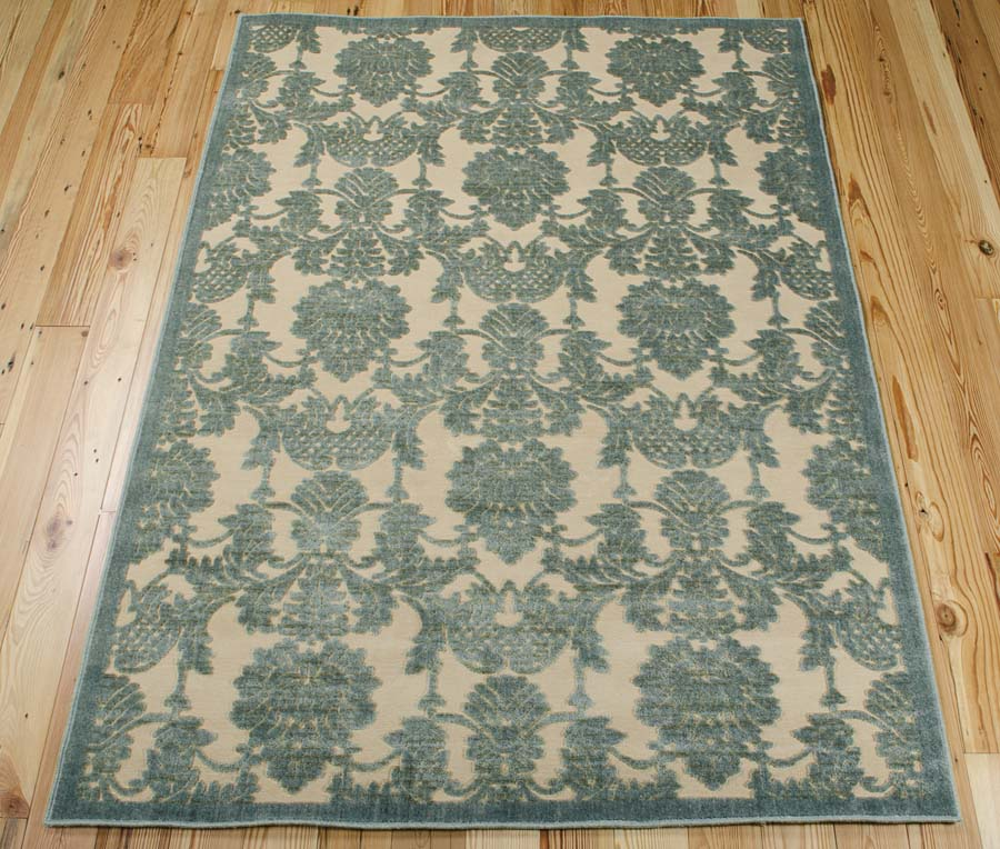 Nourison Graphic Illusions GIL03 Teal Rug