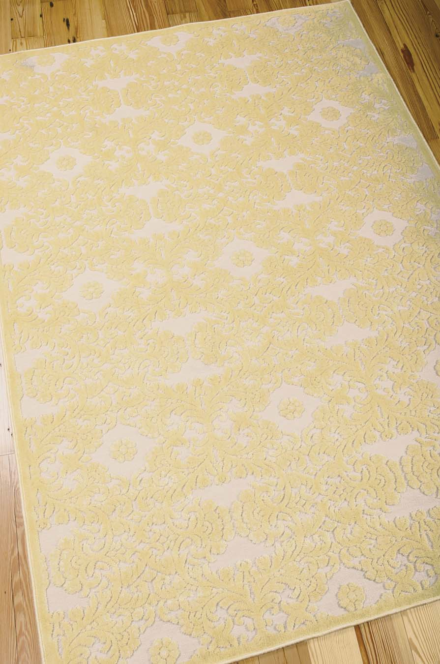 Nourison Graphic Illusions GIL07 Yellow Rug