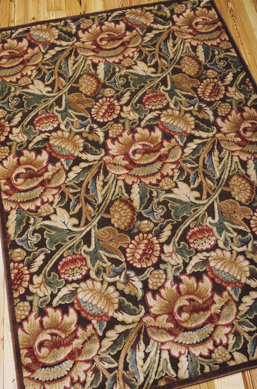 Nourison Graphic Illusions GIL10 Brown Rug