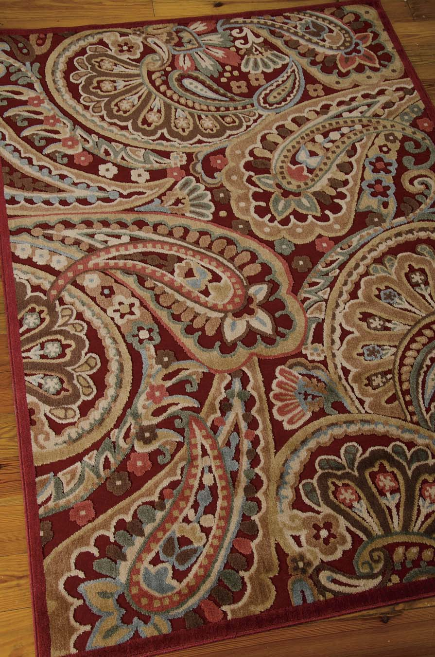 Nourison Graphic Illusions GIL14 Red Rug