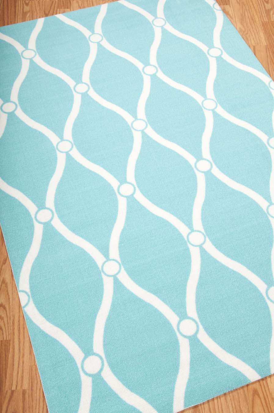 Nourison Home And Garden RS089 Aqua Rug