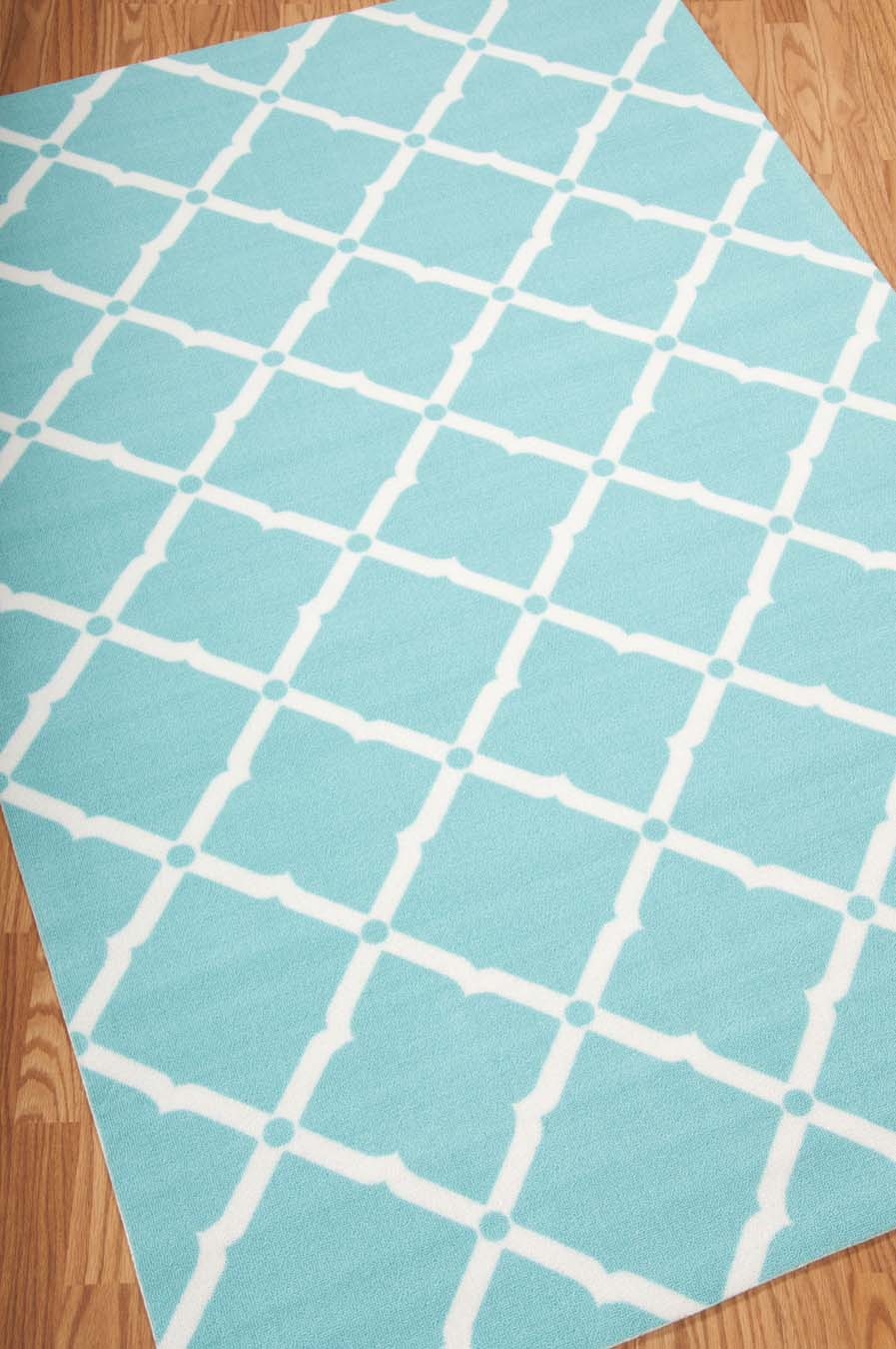Nourison Home And Garden RS091 Aqua Rug