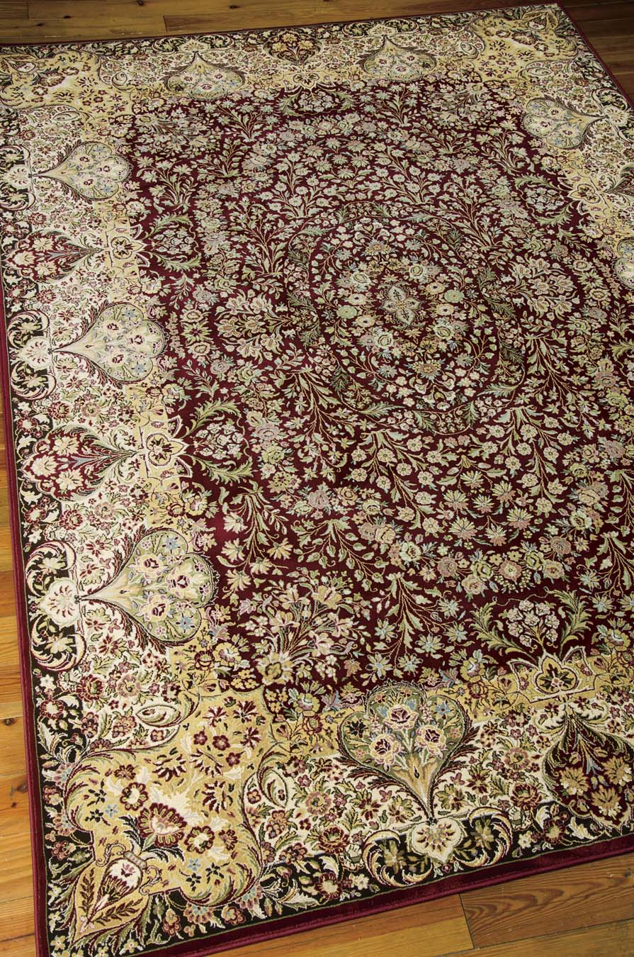 Nourison KI11 Antiquities ANT05 Burgundy Rug