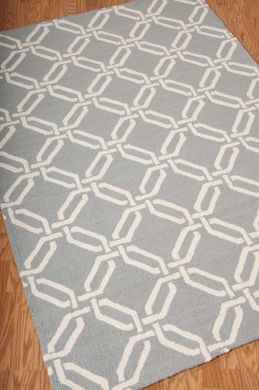 Nourison Linear LIN08 Light Blue Rug