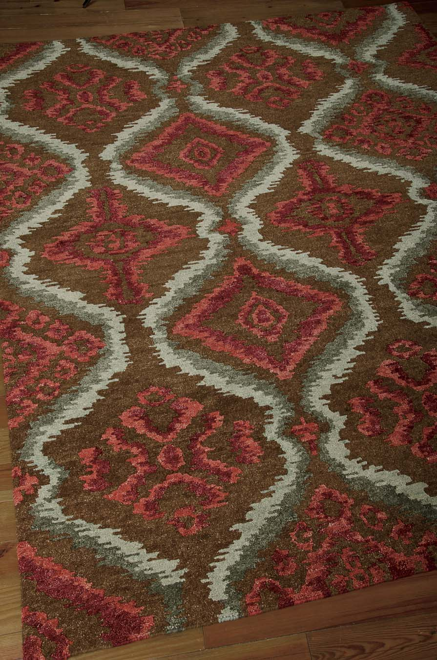 Nourison Tahoe Modern MTA06 Brown Red Rug