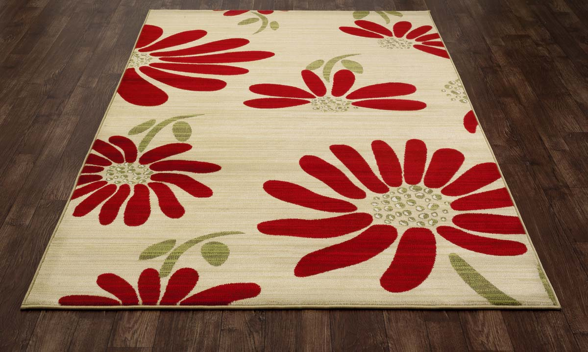 Seaside Spring Daisy Yellow Rug
