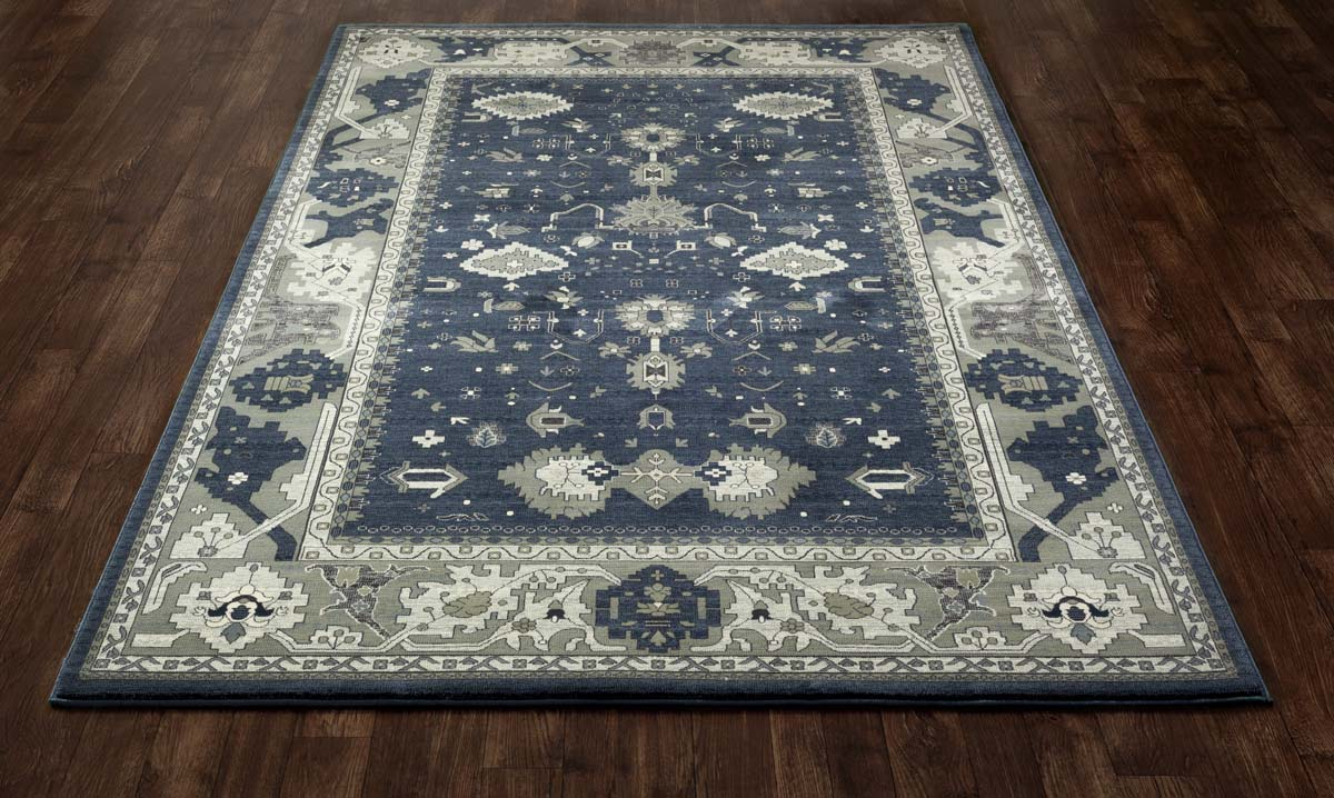 Jewel Intent Blue Rug
