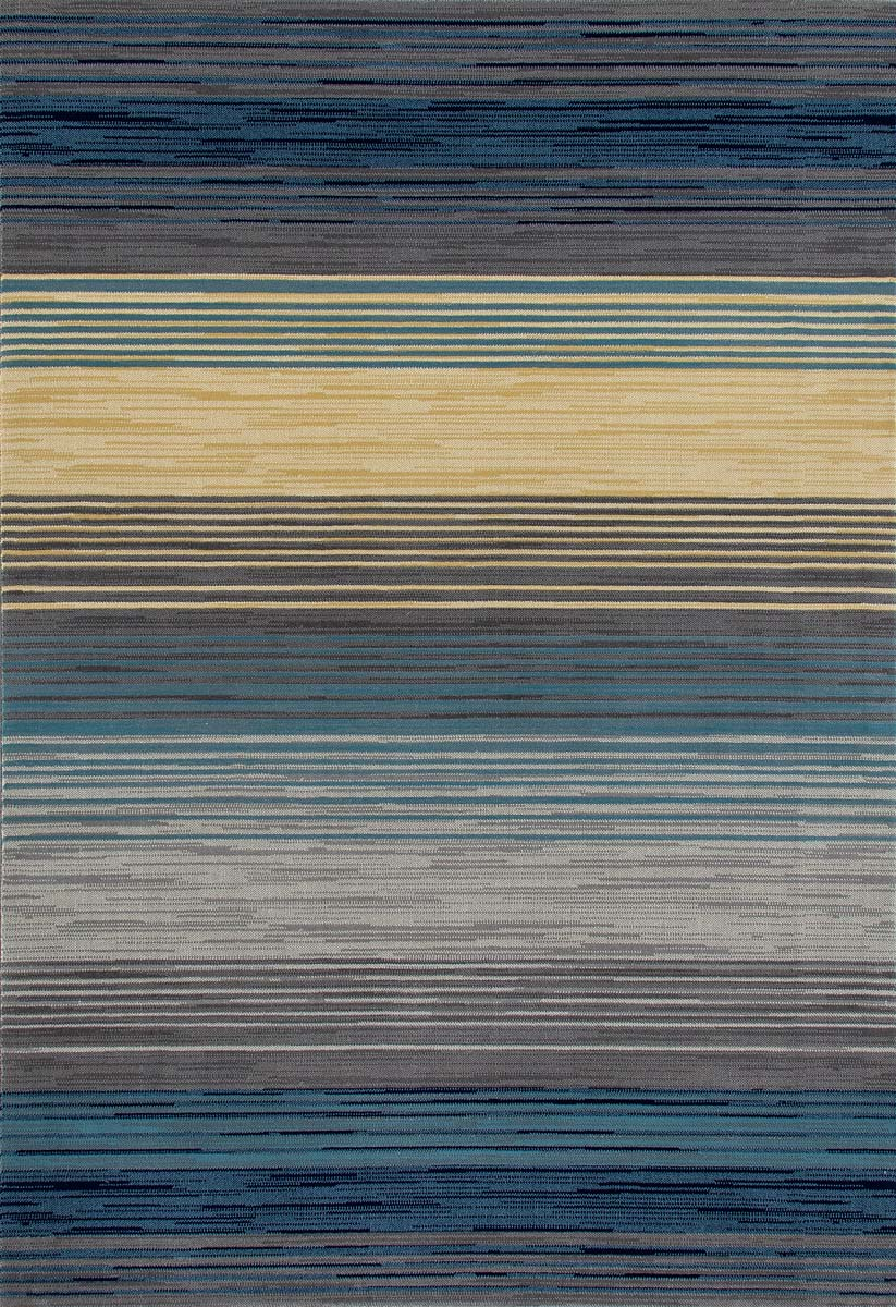 Regency Heathered Stripe Blue Rug