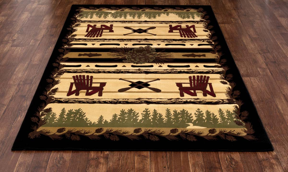 Lakota Adirondack Trail Black Rug