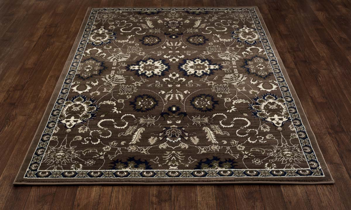 Malvern Bouquet Brown Rug