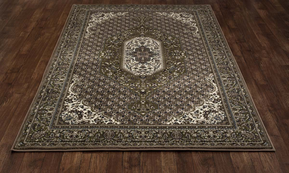 Malvern Downton Green Rug