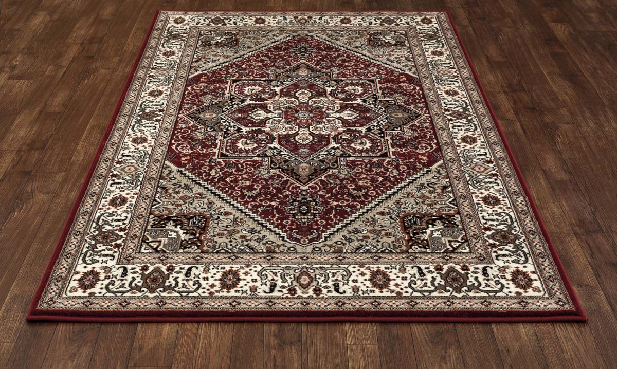 Trident Kaleidoscope Red Rug