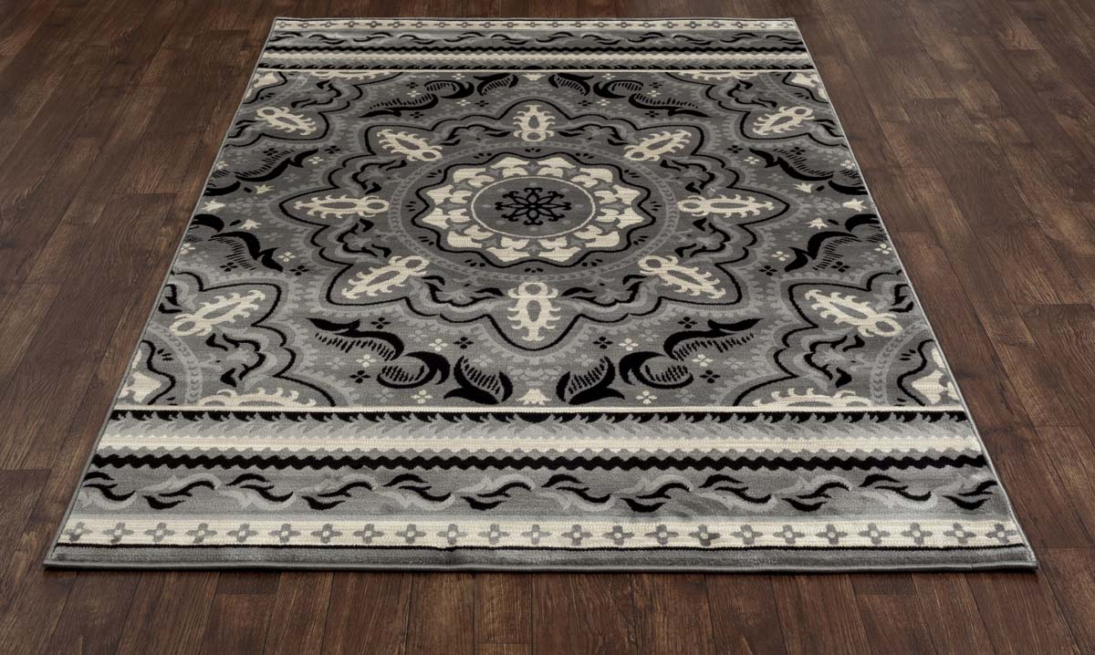 Heritage Fanciful Grey Rug