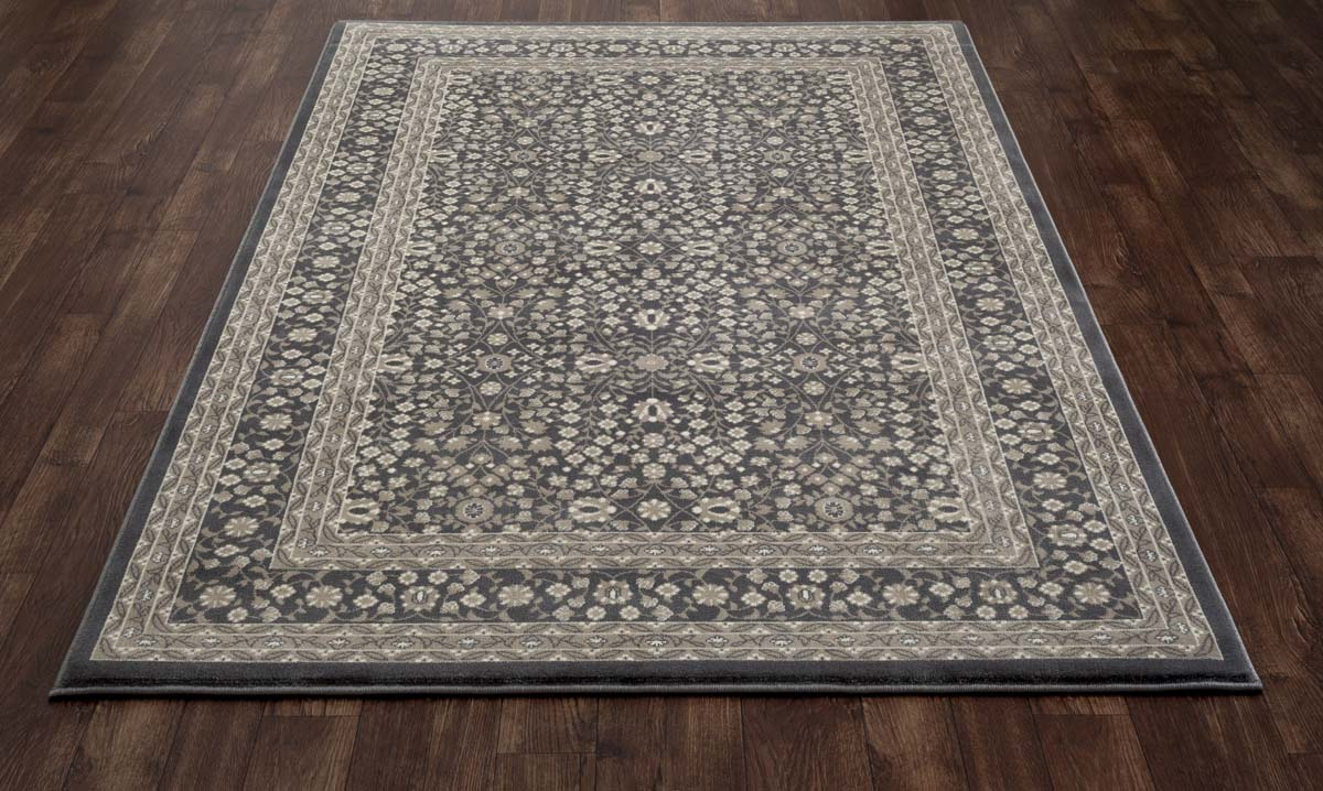 Lancaster Microfloral Gray Rug
