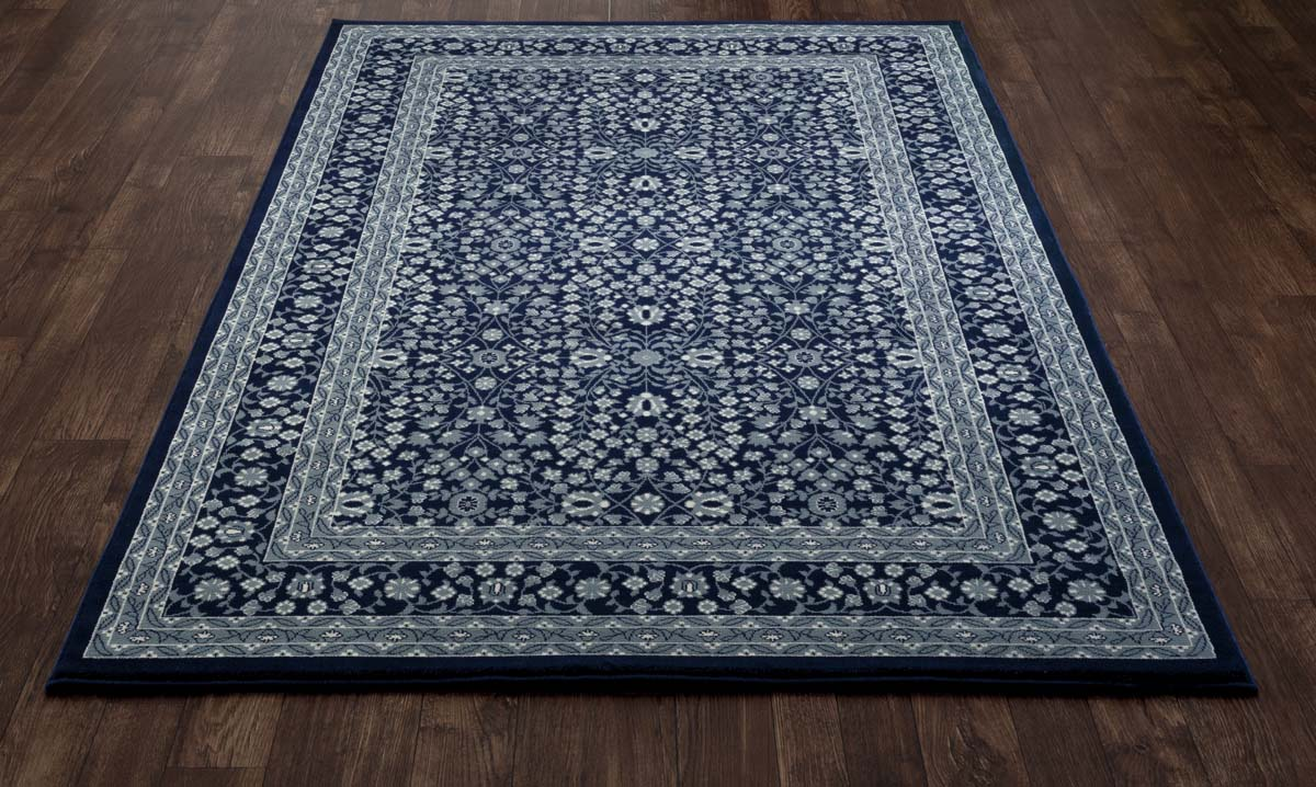 Lancaster Microfloral Navy Rug