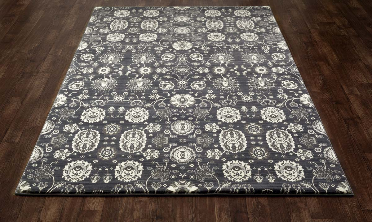 Jewel Borderless Gray Rug