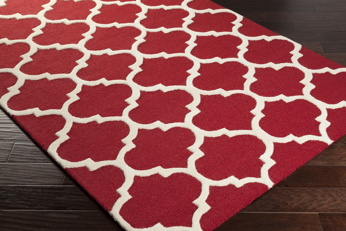 Artistic Weavers Pollack Stella Awah2030 Red White Area Rug